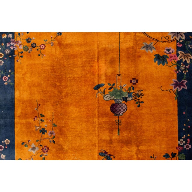 """1920s Apadana-Antique Chinese Rug, 8'10"""" X 11'10"""" For Sale - Image 5 of 10"""