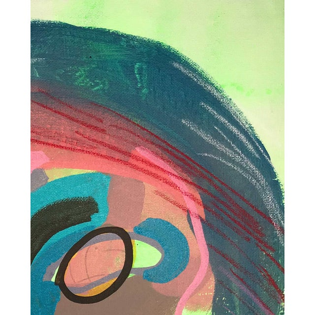 "Early 21st Century Contemporary Abstract Portrait Painting ""I Love This One, No. 2"" For Sale - Image 5 of 7"