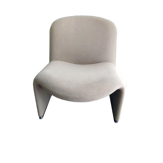 Fabric 1970s Vintage Giancarlo Piretti for Castelli Italian Alky Chair For Sale - Image 7 of 9