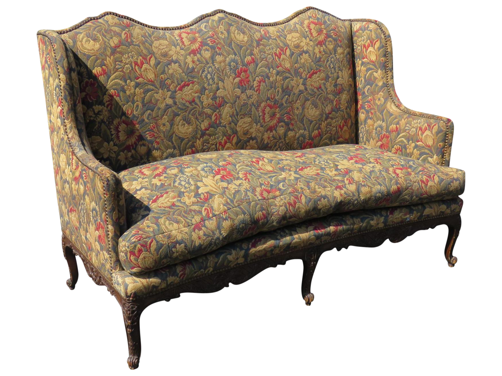 Louis XVI Style Tapestry Upholstered Sofa