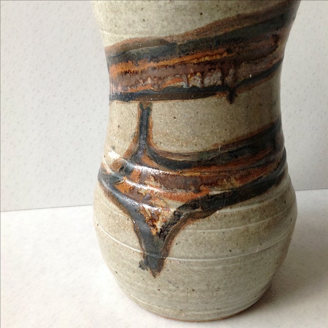 Studio Pottery Neutral Tone Glazed Vase - Image 7 of 11