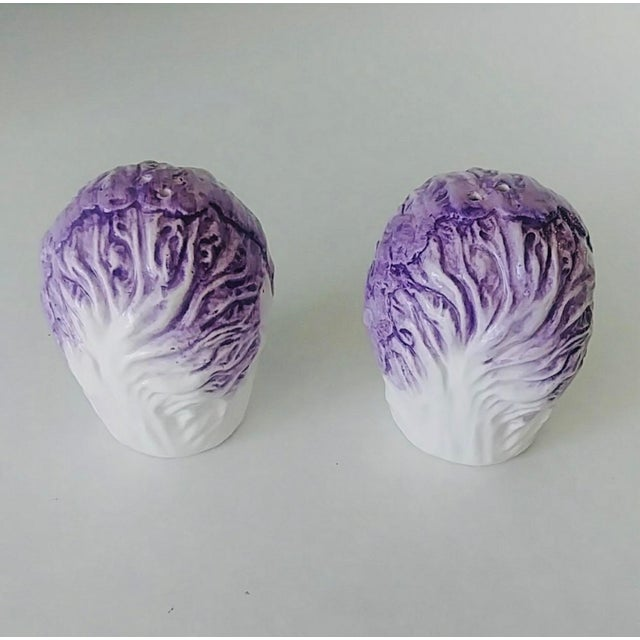 Fitz and Floyd Vintage Fitz & Floyd Cabbage Salt & Pepper Shakers - a Pair For Sale - Image 4 of 6
