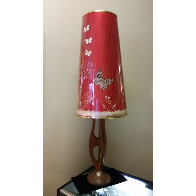 Mid-Century Modern Pearsall Style Walnut Lamp - Image 8 of 11