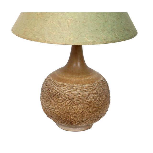 Mid-Century Modern Handcrafted Clay Table Lamp For Sale - Image 3 of 8