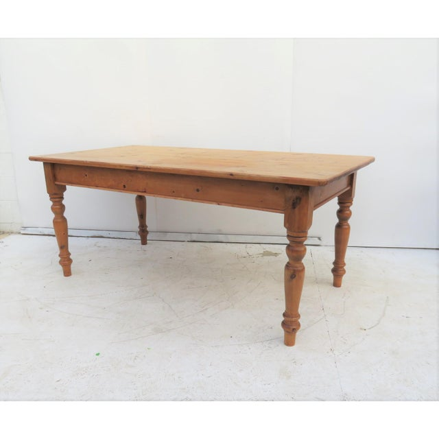 English Scrub Pine Farm Table - Image 7 of 7