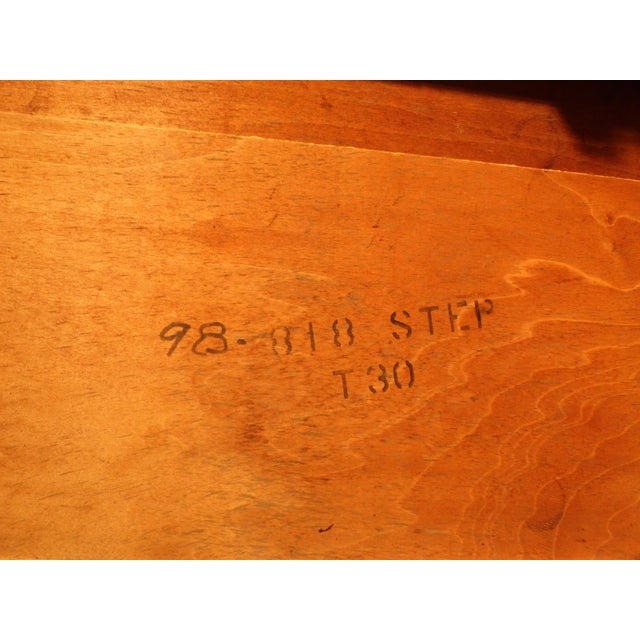 Vintage Federal Style Step Sabre End Tables - A Pair For Sale - Image 9 of 10