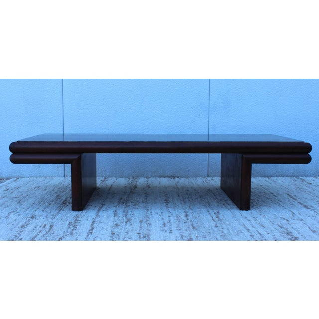 Wood Harvey Probber Resin Top Modernist Coffee Table For Sale - Image 7 of 11