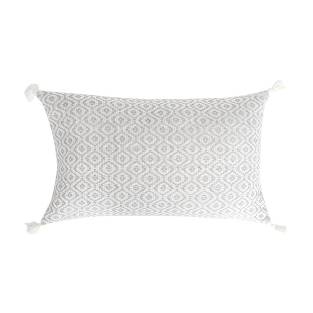 Mexican Grey Handwoven Pillow - Image 1 of 7