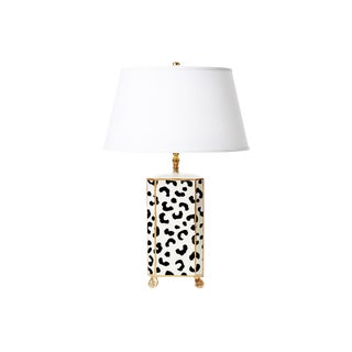 Dana Gibson White Leopard Lamp