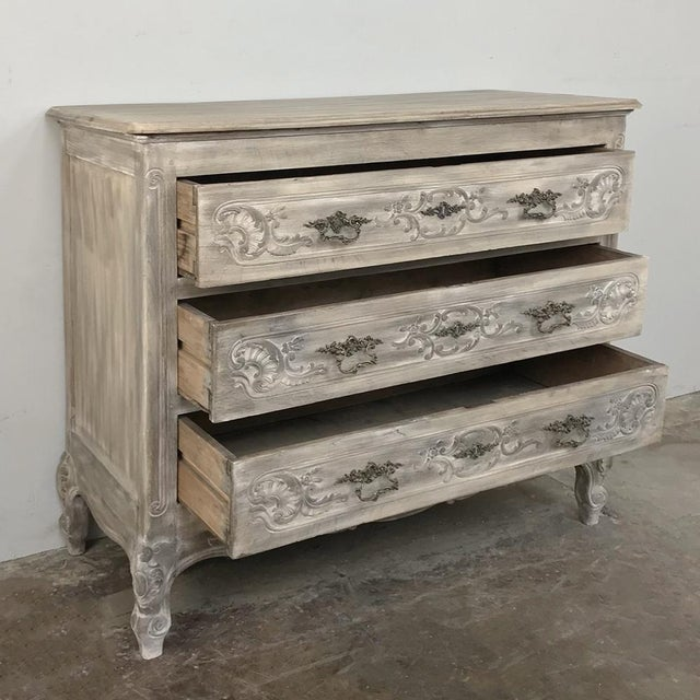 19th Century Country French Whitewashed Commode For Sale - Image 4 of 13