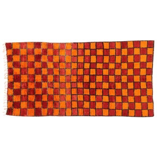 Reversible Berber Moroccan Rug with Modern Style For Sale