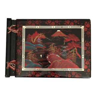 1950s Lacquered Japanese Style Photo Album