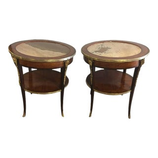 Louis XV Style Marble Gueridon Tables - A Pair