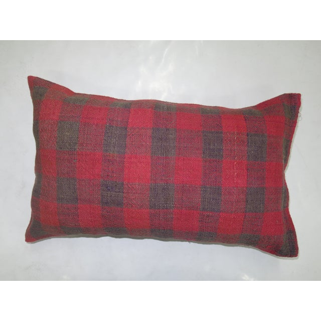 Double sided Bolster Size Pillow made from a turkish textile. Zipper closure and foam insert provided. 1'1'' x 1'10''.