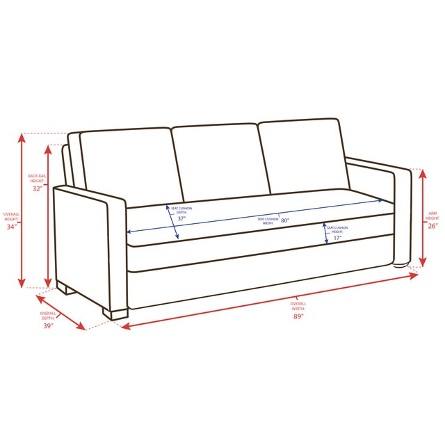 Wood Lee Industries Ultimate Sofa For Sale - Image 7 of 8