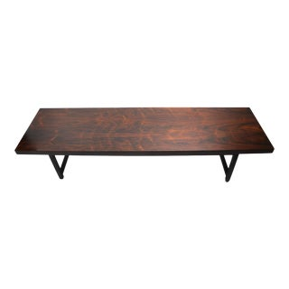 Large Mid Century Rectangular Rosewood Coffee Table For Sale