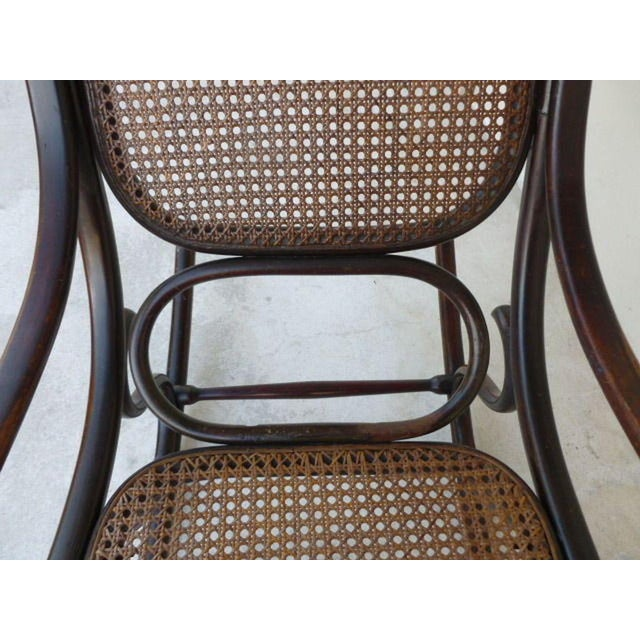 Original Condition Signed Thonet Bentwood Rocker Circa 1896 For Sale - Image 10 of 11