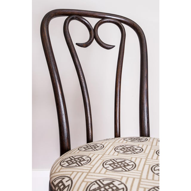 Early 20th Century Candy Cane Bentwood Cafe Chair For Sale - Image 5 of 5