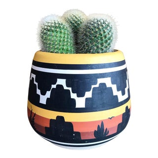 Vintage Desert Scene Planter For Sale