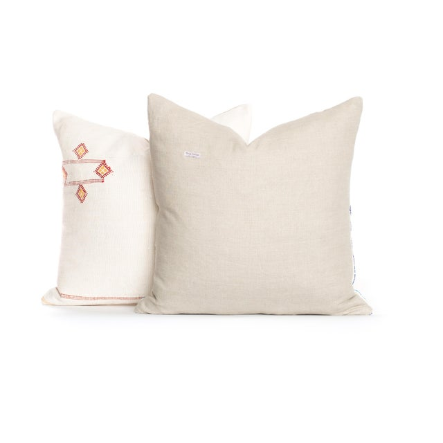 Boho Chic Vintage Sabra Pillow - A Pair For Sale - Image 3 of 3