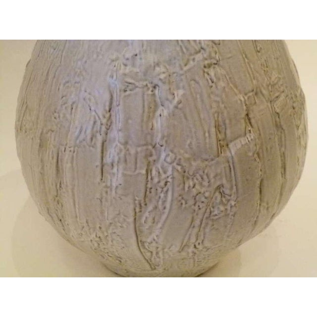 Large 50s Clemens & Huhn Textured German Pottery Mid Century Modern Krug Floor Vase - Image 8 of 9