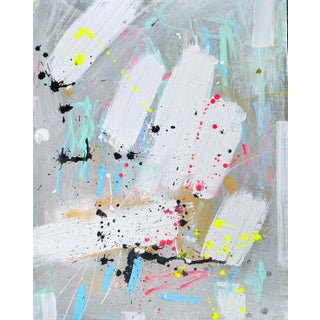 """""""Pop"""" Contemporary Abstract Acrylic Painting by Sarah Trundle For Sale"""