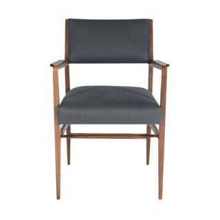 Maze Walnut Arm Dining Chair For Sale