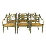 Image of 1980s Vintage Baker Country French Style Chairs- Set of 6 For Sale