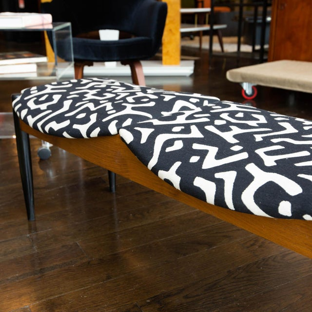 Mid-Century Modern John Stuart Style Mid Century Three-Seat Bench For Sale - Image 3 of 9