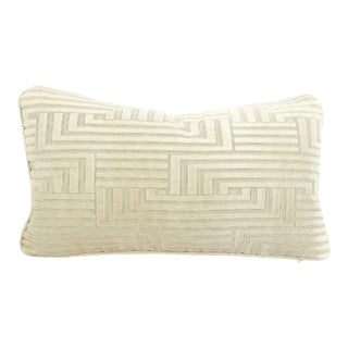 Groundworks Louvered Maze Cut Velvet Lumbar Pillow Cover For Sale