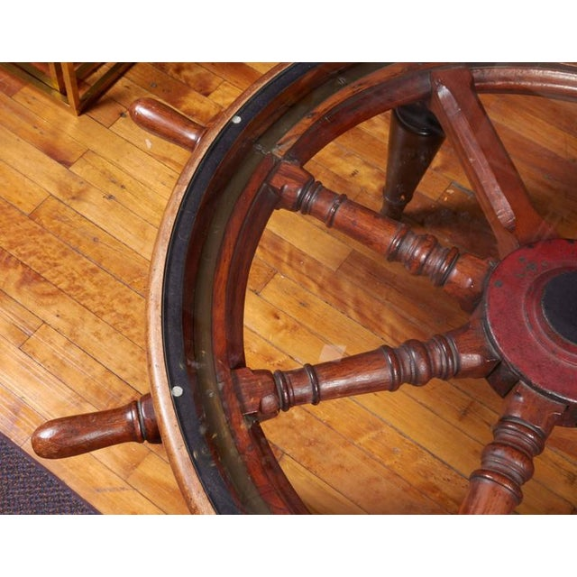Victorian Antique Ship's Wheel Coffee Table For Sale - Image 3 of 6