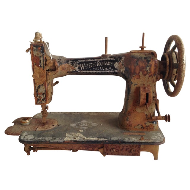 Antique White Rotary Sewing Machine - Image 1 of 4