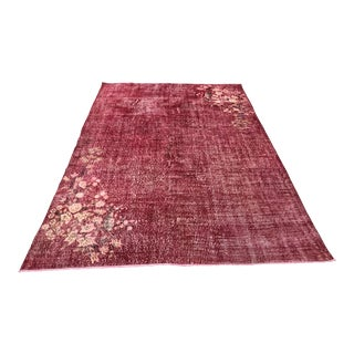 Turkish Tribal Anatolian Distressed Vintage Rug - 7′ × 10′2″ For Sale