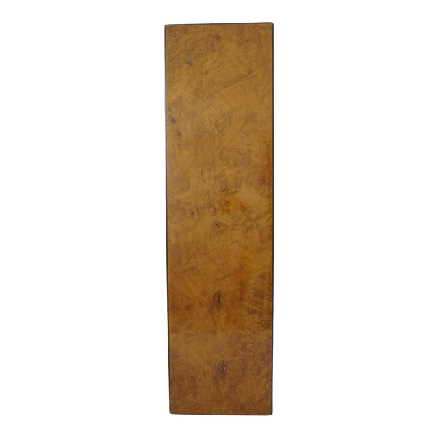 Mid-Century Modern Drexel Heritage Furniture Pedestal Burlwood Veneers For Sale