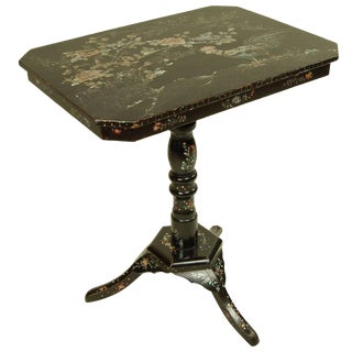 Antique Louis XIV Side Table With Mother-Of-Pearl Inlay For Sale