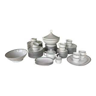 Vintage Mid-Century Richard Ginori China Dinnerware - 81 Pieces Set For Sale
