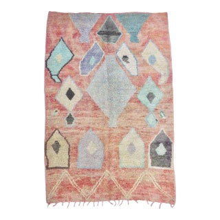 Paprika and Aqua Boujad Rug For Sale