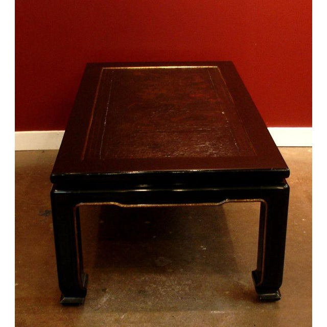 A French Chinoiserie Black Lacquer Coffee Table - Image 4 of 5