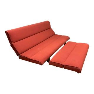 Vintage Mid Century Martin Borenstein Adjustable Double Lounge Sofa For Sale