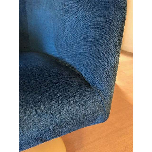 "West Elm ""Bond"" Upholstered Swivel Chair For Sale In Los Angeles - Image 6 of 7"