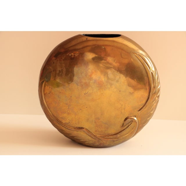 Art Deco Dara International Brass Swan Vase For Sale - Image 3 of 8