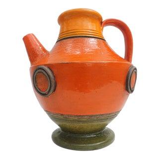 Italian Aldo Londi for Bitossi Decorative Pottery Pitcher