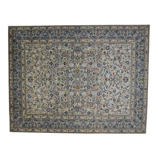 Vintage Kashan Light Blue Persian Rug