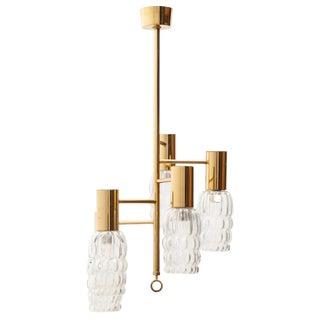 Brass Pendant Light by Helena Tynell for Glashütte Limburg, Germany, 1970s For Sale