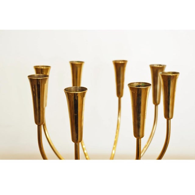 Brass Pair Illums Bolighus Brass Candelabra For Sale - Image 7 of 10