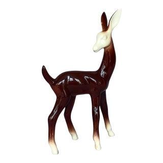 Mid Century Modern Ceramic Deer Figurine For Sale