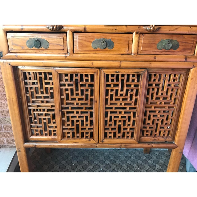 Vintage Bamboo Cabinet - Image 6 of 6