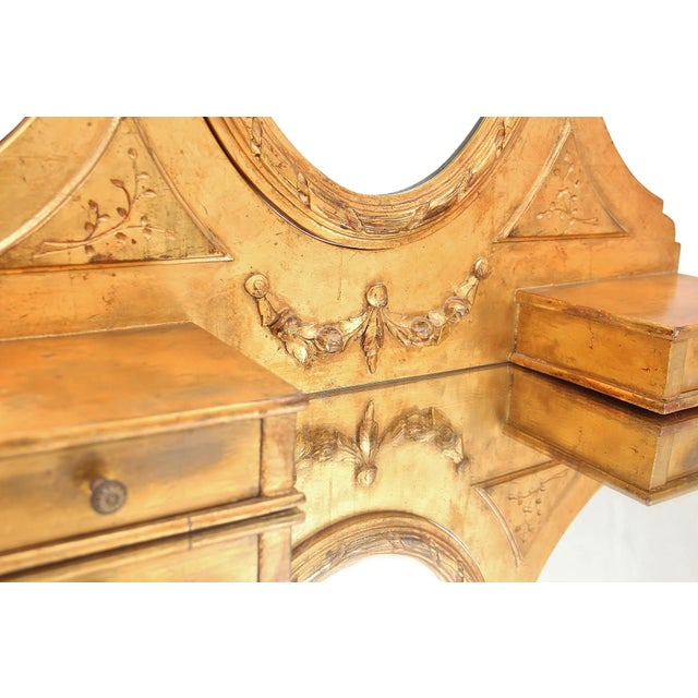 French Style Gilt Vanity & Coordinating Stool For Sale In Tampa - Image 6 of 13