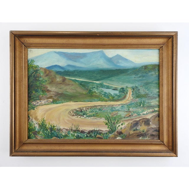 Rustic Mountain Road Landscape Painting For Sale - Image 3 of 3