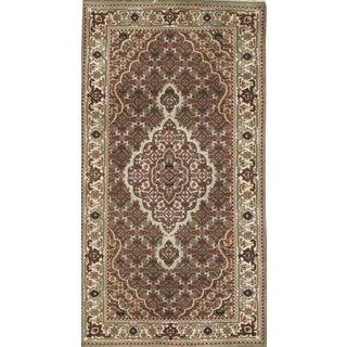 "Pasargad N Y Tabriz Fish Design Silk & Wool Pile Rug - 2'7"" X 4'10"" For Sale"